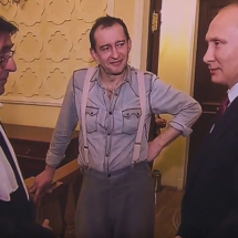 Vladimir Putin, Yuri Bashmet and Konstantin Khabenskiy in Sochi