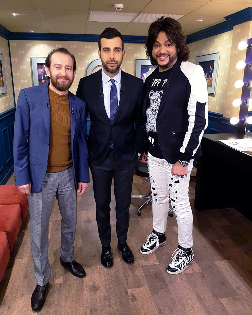 Konstantin Khabenskiy, Ivan Urgant and Philipp Kirkorov at Evening Urgant TV-Show